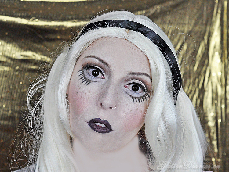 Evil Doll Halloween Makeup Tutorial