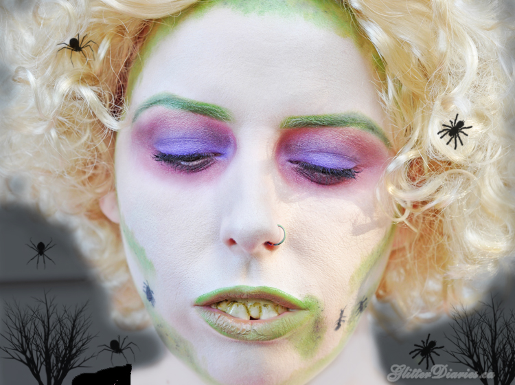 Beetlejuice Halloween Makeup Tutorial